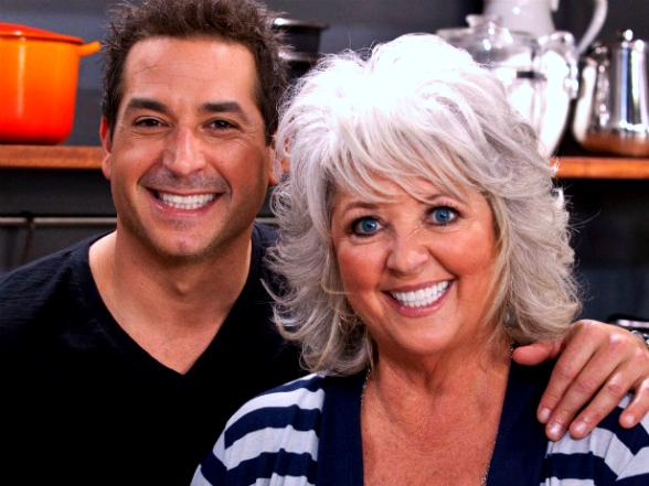 Bobby Deen and mother Paula Deen.