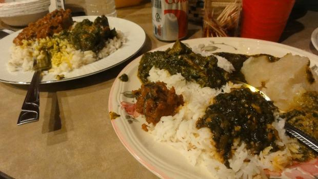West African food. Signature dishes from Sierra Leone.