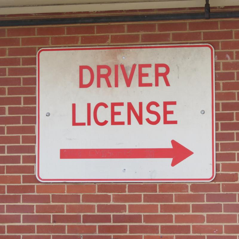 The sign at a DMV office in Charlotte.