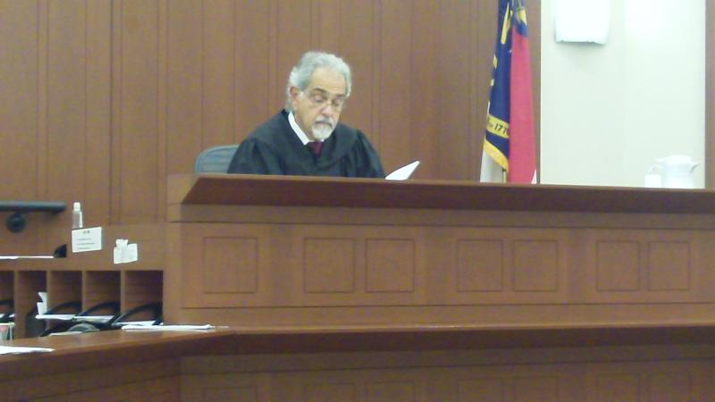 Judge Theo X. Nixon presides over Citizen's Court in Courtroom 4330 at the Mecklenburg County Courthouse.