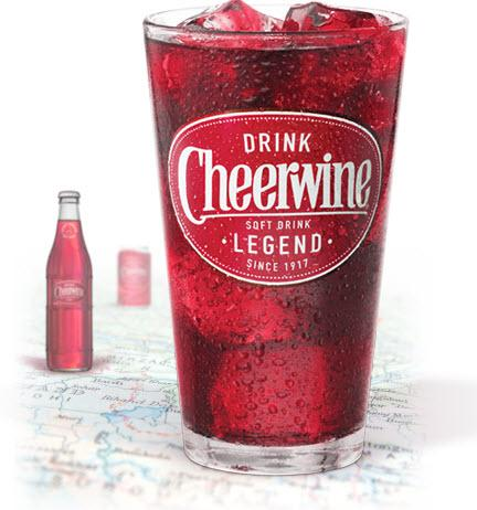 Reping for North Carolina, a hometown favorite, Cheerwine.
