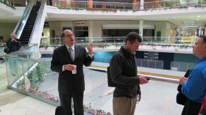 City Investment and Development Manager Peter Zeiler gave interested developers a tour of Eastland Mall in January 2013.