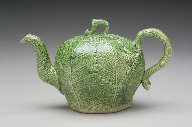 William Littler. British, 1724 – 1784 Brownhills. 1745 – 1749 Molded Grape Leaf Teapot circa 1745 – 1749 Stoneware Delhom Collection. 1965.48.535ab