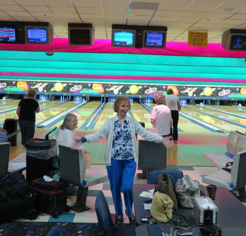 Women on the Lake Norman Trio Bowling League play weekly at Northcross Lanes at the Lake in Huntersville, one of two bowling centers that hosted the 2007 US Bowling Congress Women's Championships.