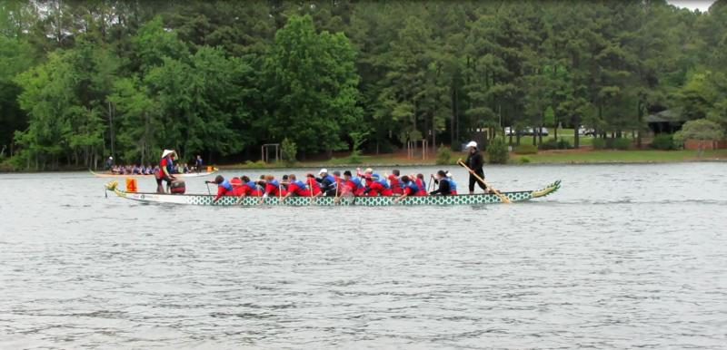 The Charlotte Dragon Boat Association held its eighth annual dragon boat race in Cornelius on Saturday.