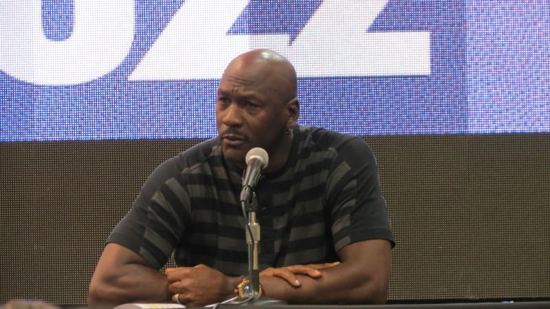 Michael Jordan discusses the team's plan to change its name to the Hornets..