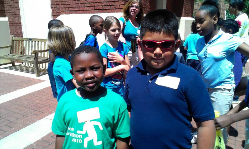 Wesley Baxter Jr., a first grader at Park Road Montessori was pen pals with Steven Ambrocio Lopez, a third grader at Sedgefield Elementary in south Charlotte.