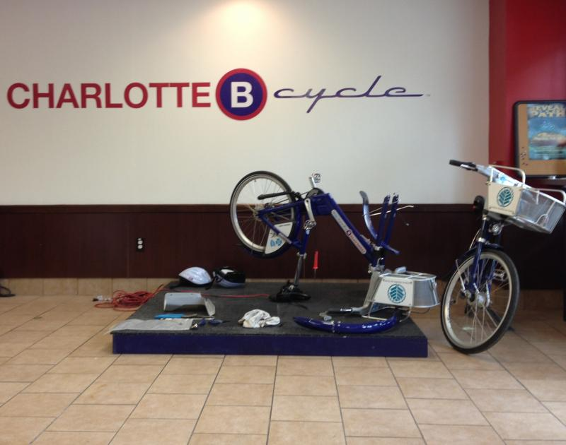 A B-Cycle undergoing repairs