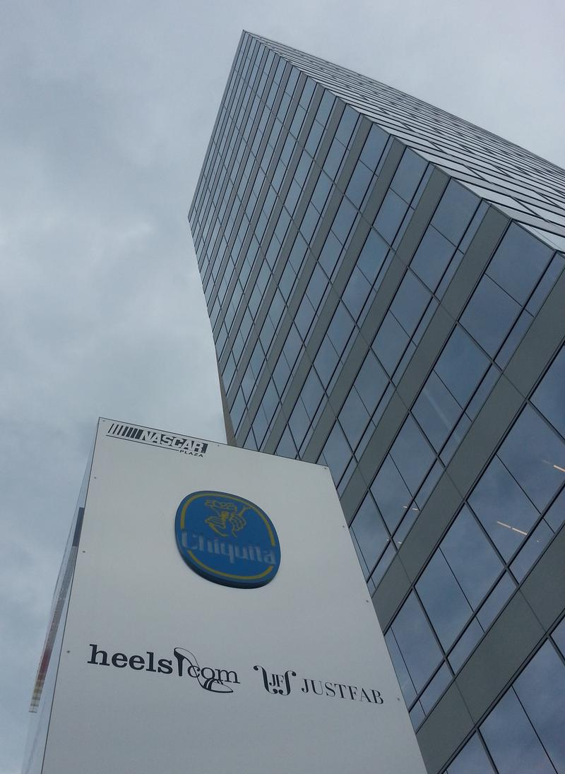 In 2012, Chiquita moved its headquarters from Cincinnati to Charlotte, where it now occupies several floors of the NASCAR Plaza.