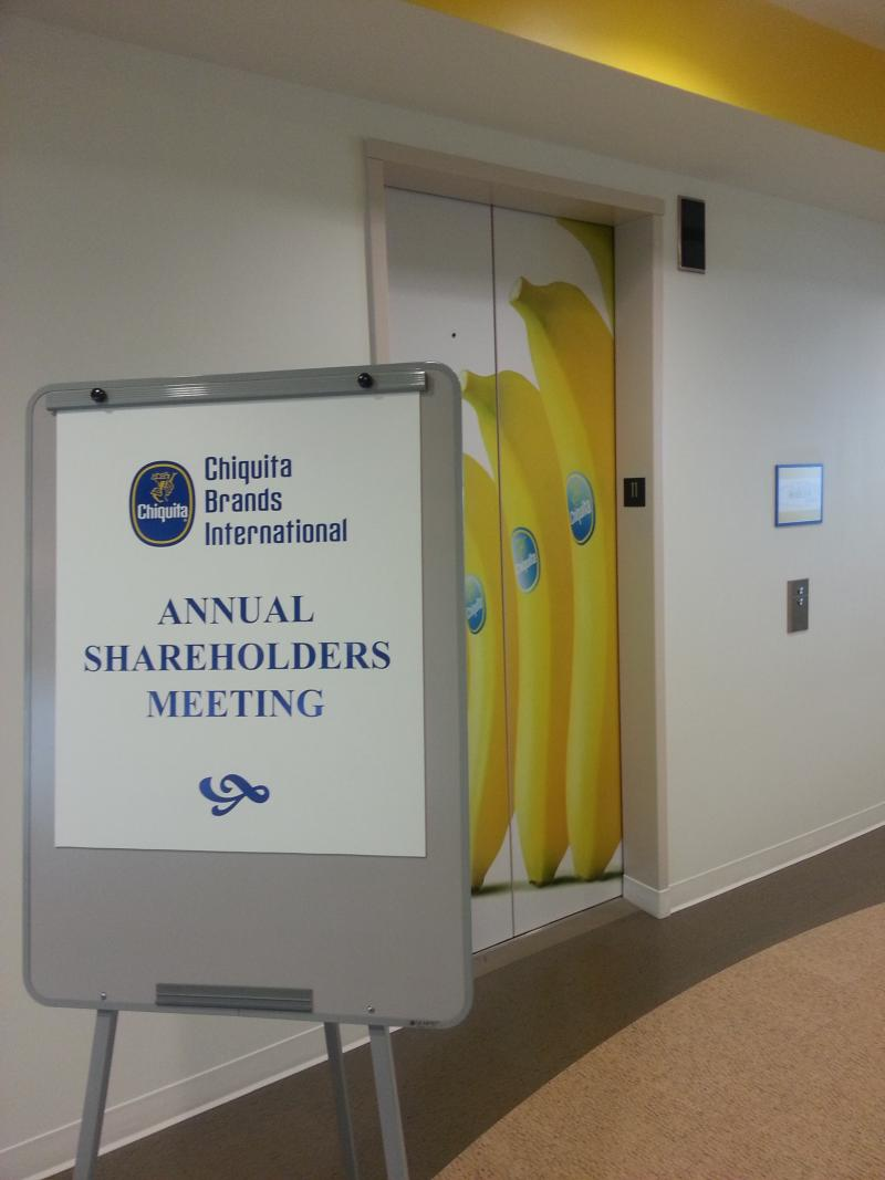 "Chiquita's 2013 shareholders meeting in Charlotte was a ""celebration of new beginnings,"" said CEO Ed Lonergan."