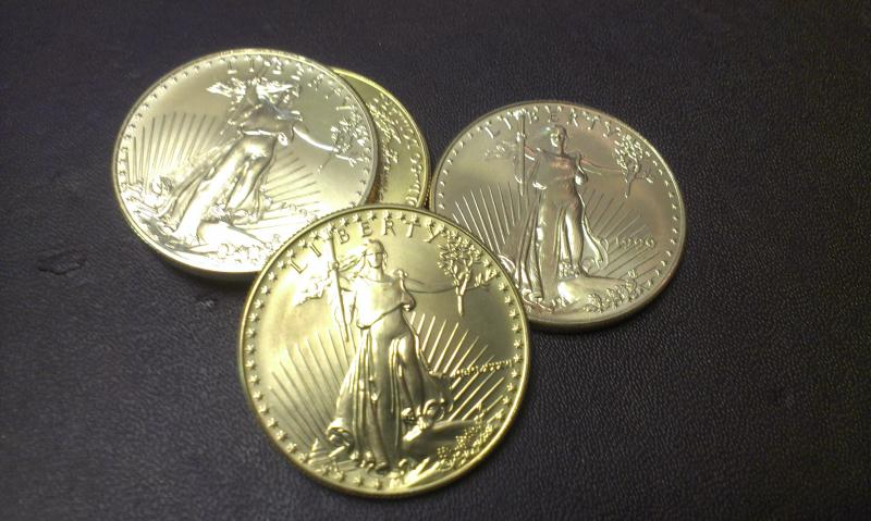 These American Gold Eagle coins at Perry's in South Park contain one ounce of pure gold. One ounce is currently worth $1,385.