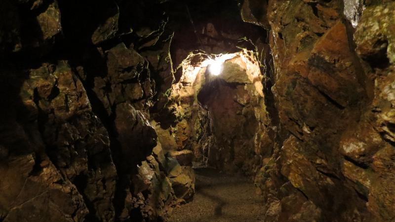Underground tunnels were dug to find gold at the Reed Gold Mine.
