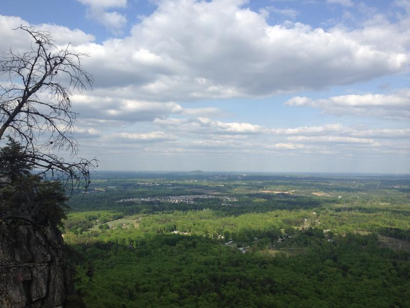 View from the Pinnacle at Crowders Mountain