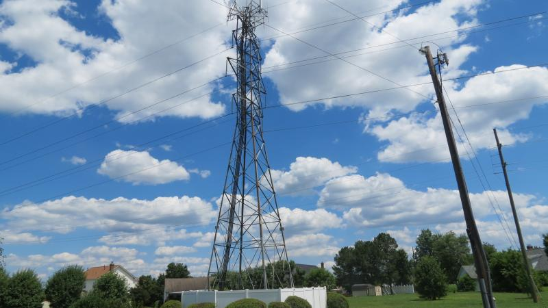 A Duke Energy communications tower in North Charlotte