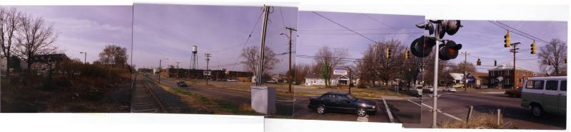 The intersection of West Blvd and Camden Rd. before light rail arrived in 2007.