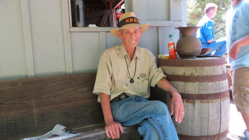 Robert Carelock, of Monroe, is a volunteer at Reed Gold Mine. He has been panning for gold since the 1950s and heads the Piedmont Prospectors Association in South Carolina.