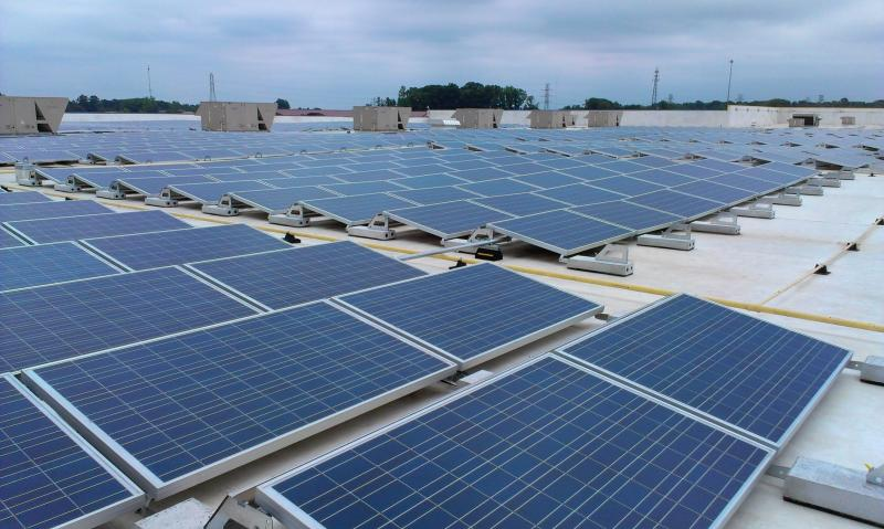 There are 4,228 solar panels on top of the IKEA store in Charlotte. It's expected to produce about 25 percent of the store's electricity, on average.