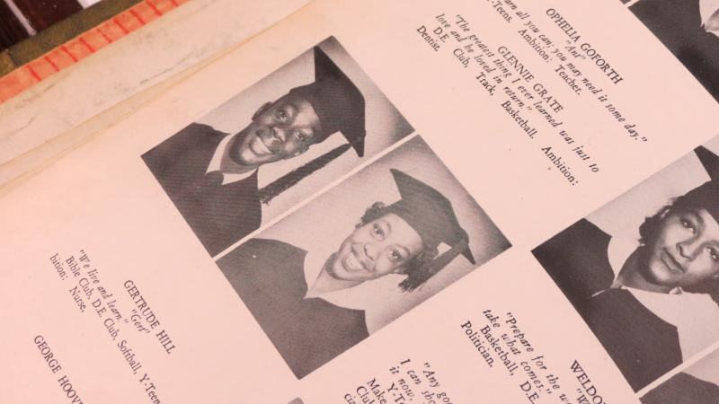 Mable Latimer (right) in 1952 yearbook