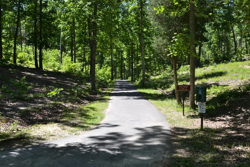 A paved loop takes visitors on a self-guided tour of the Kings Mountain National Military Park