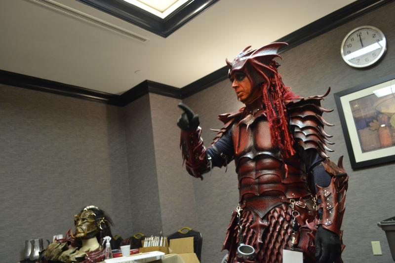 A leatherworking class at ConCarolinas, a sci-fi convention held in Charlotte this weekend.