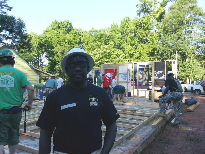 Veteran Garry Capers is helping to build the home he will purchase with a zero-interest mortgage from Habitat Charlotte.