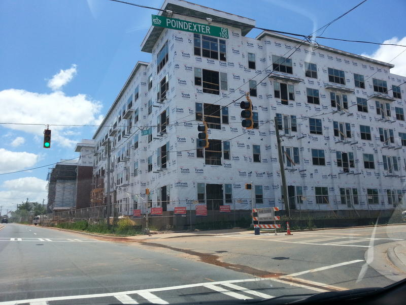 A dozen new apartment complexes underway that will double South End's population by 2015.