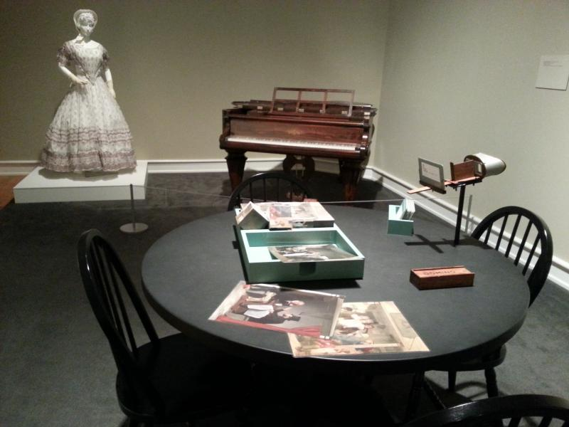 The exhibit at Mint Museum Randolph features an interactive parlor similar to those featured in many Richard Caton Woodville paintings.