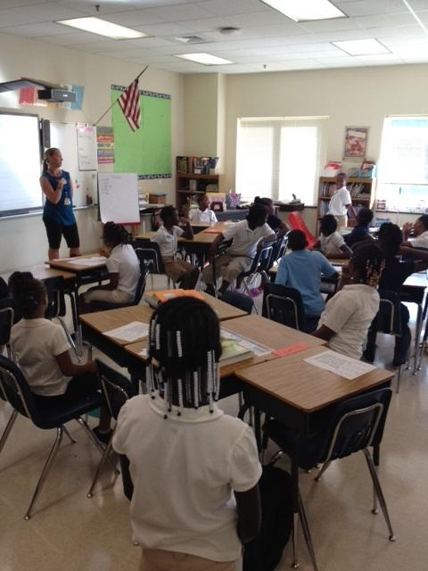 Druid Hills fourth-graders learn each others names on the 2nd day of school.