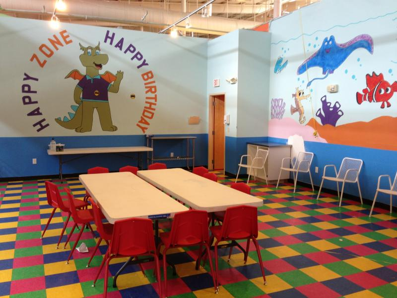 Happy Zone has rooms for birthday parties.