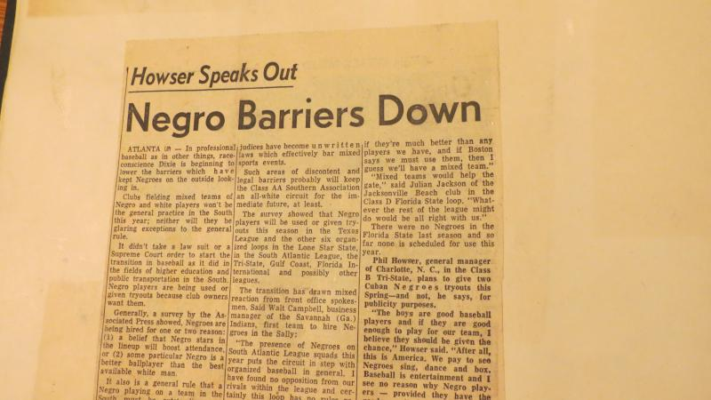 Integration was making its way into Charlotte's baseball scene in 1953.