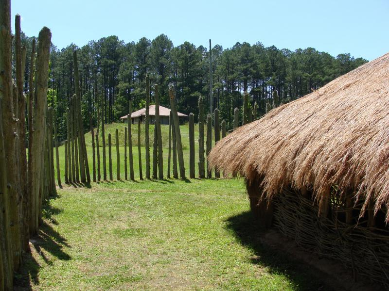 A view of the site at the Town Creek Indian Mound near Mount Gilead, N.C.
