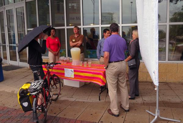 Attendees were greeted with lemonade at the front door of the Levine Museum of the New South.