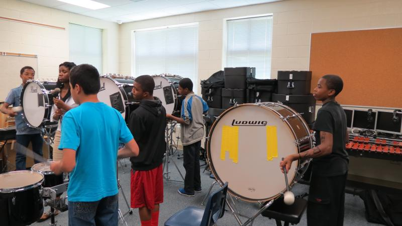Summer school at Ashley Park includes a drum line