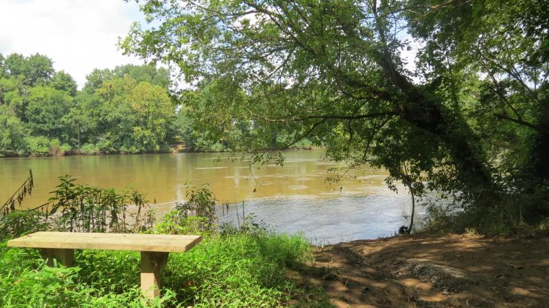 A fishing spot along the Pee Dee River in Anson County