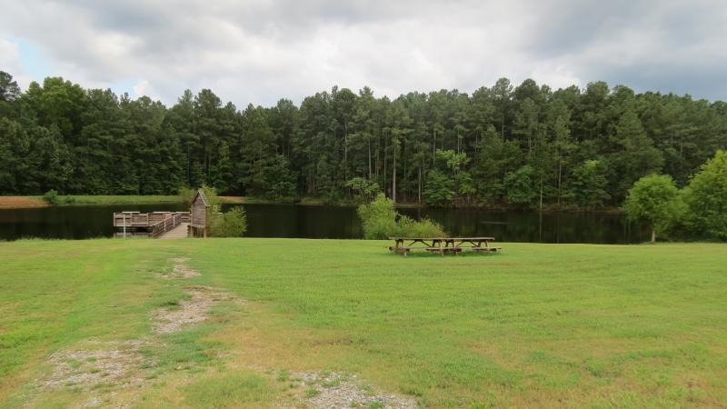 A fishing pond on the Pee Dee National Wildlife Refuge in Anson County