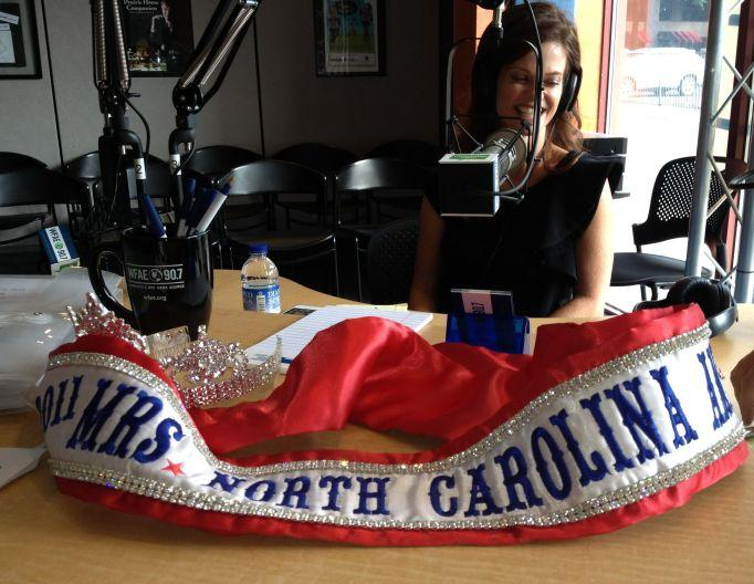 Candace Matthews Blanchard, Mrs. North Carolina America 2011 brought her sash into the studio