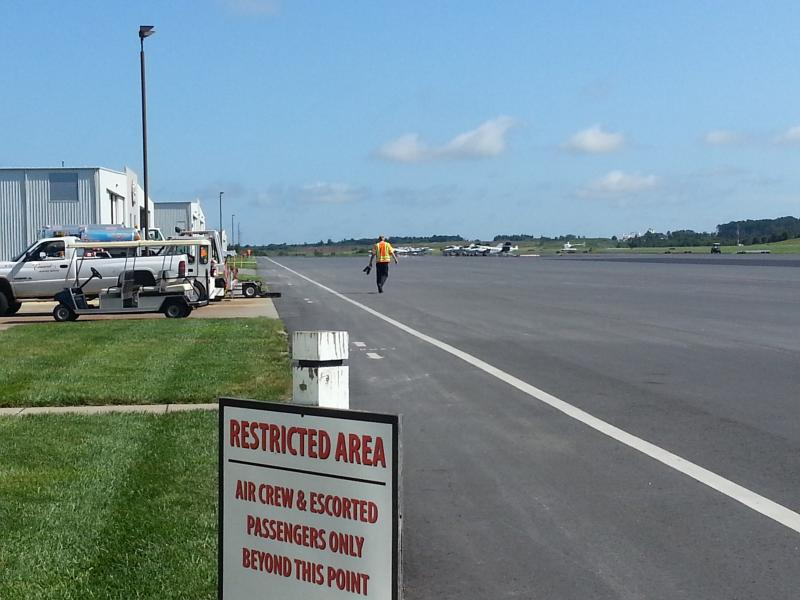 A hangar just north of the Concord Regional Airport terminal will be converted into a TSA screening and passenger waiting area for Allegian Air flights.