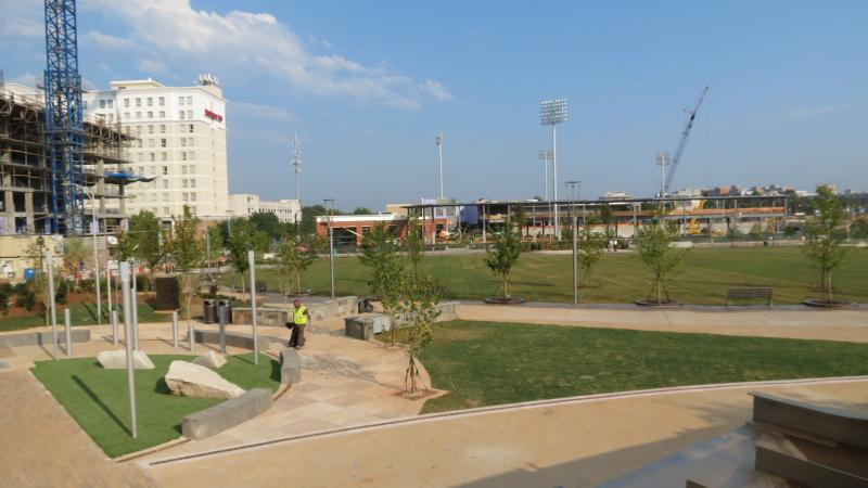 The park is next door to the future BB&T Ballpark.