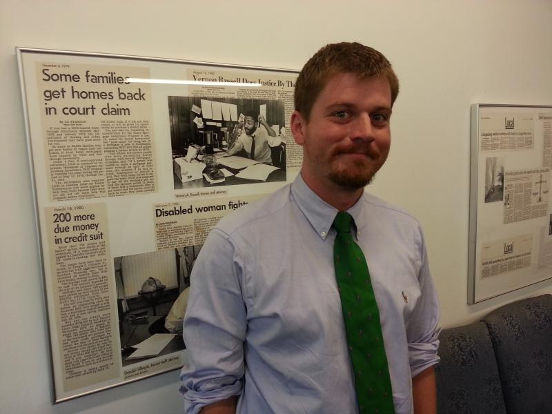 2012 Charlotte School of Law grad Isaac Sturgill is now a staff attorney for Legal Aid of North Carolina in Charlotte.