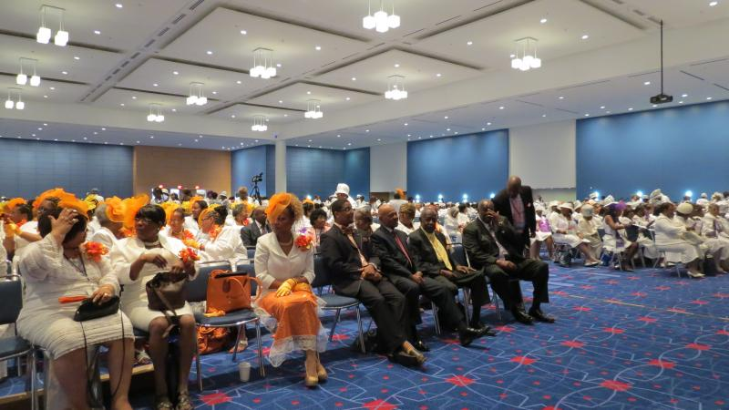 Thousands of delegates from 49 states and the Bahamas attended the National Baptist Convention's Women In White March at the Convention Center.
