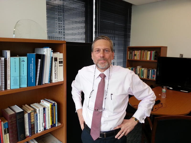 Charlotte School of Law Dean Jay Conison in his new office Uptown.