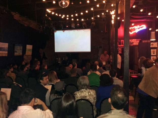 15 Short Film Festival attendes at the Evening Muse in NoDa.