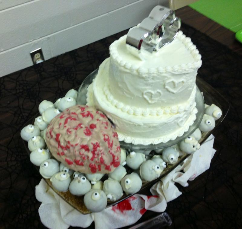 Ever wonder what a zombie wedding cake would look like? Well, this!