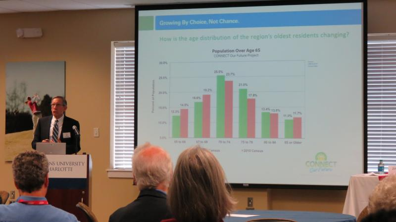 Jim Prosser, executive director of the Centralina Council of Governments, talks about the growing baby-boomer population in Mecklenburg County.