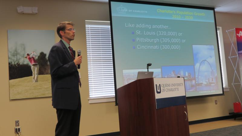 Ed McKinney, the city's assistant planning director, talks about accomodating the expected growth of 300,000 people by 2030.
