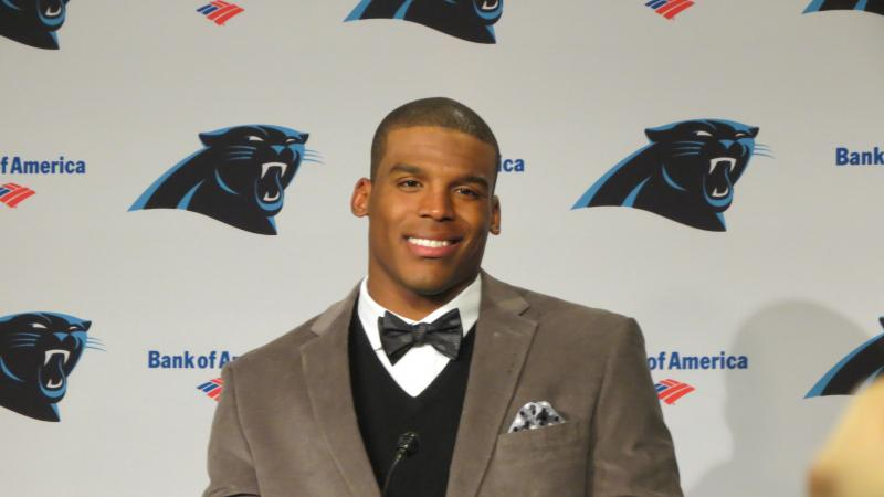 Cam Newton at the post-game press conference.