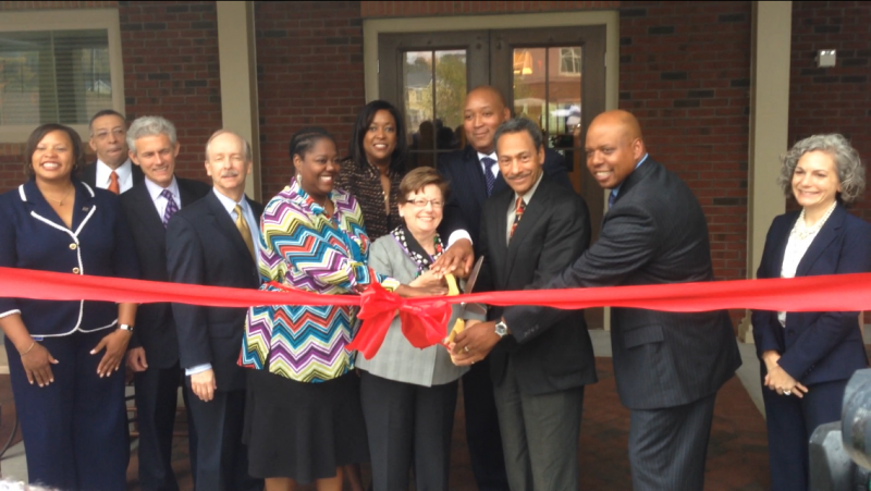 City Councilwoman LaWana Mayfield, Charlotte mayor Patsy Kinsey, Congressman Mel Watt (D-12) and N.C. Sen. Joel Ford (D-38) cut the ribbon at the Renaissance