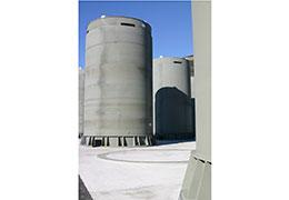 Above-ground casks are another way spent fuel is stored at nuclear power plants.