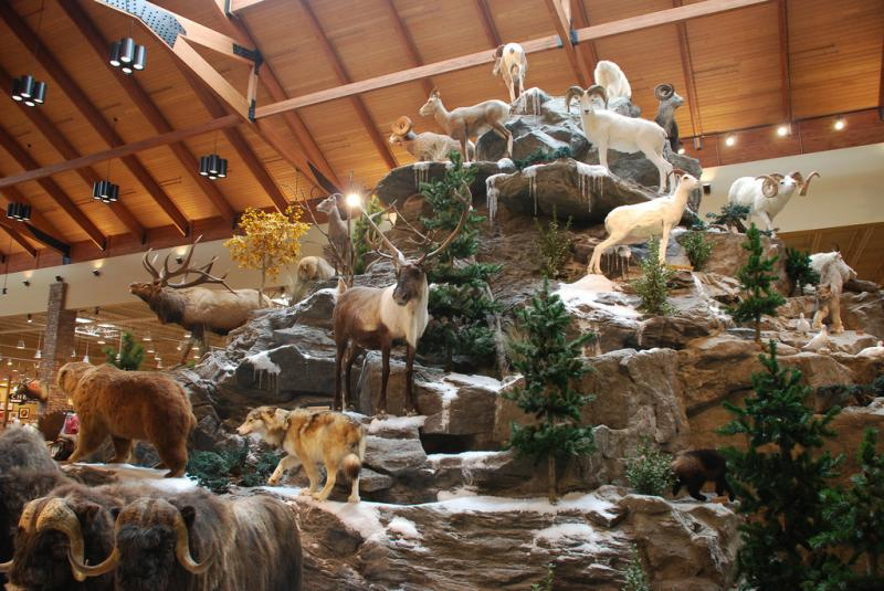 Wildlife display at a Cabela's store in Maine