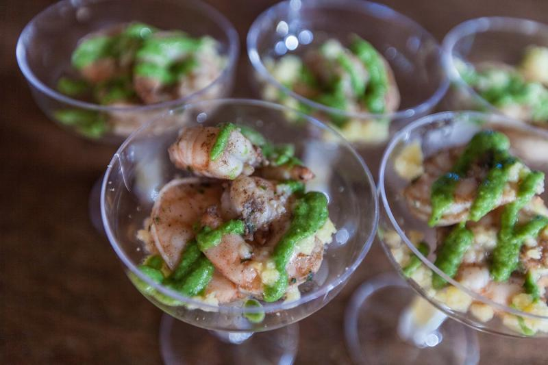 Shrimp & Grits from Chef Gregory Collier of The Yolk.